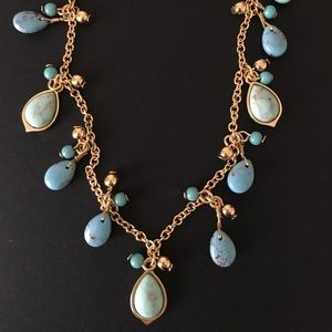 Ralph Lauren Turquoise and gold beaded necklace